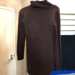 Dynamite turtleneck dark purple sweater