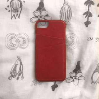 Red Faux Leather IPhone 6,7,8 case