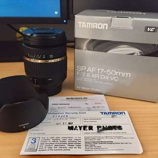 Tamron 17-50mm VC Lens for Nikon Camera Lens DSLR