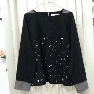 Cotton Ink Black Galaxy