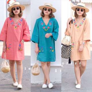 [PO] AMC Oversized Embroidered Floral Dress