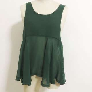 Green Flare Top