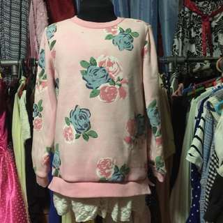 Floral Design Sweater