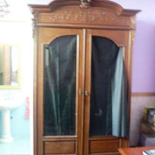 Antique French Indochina Blackwood Armoire