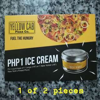 Yellow Cab delivery voucher (1 of 2)