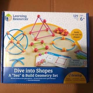 Dive into shapes geometry set educational toys