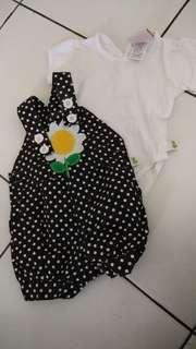 Stelan baju bayi perempuan