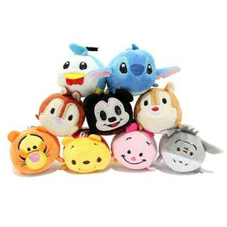 *FREE DELIVERY to WM only / Ready stock*  Tsum2 mini plush toy each set of 9 as shown design/color. Free delivery is applied for this item.