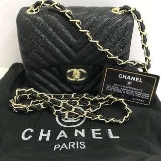 Chanel Chevron Caviar Bag