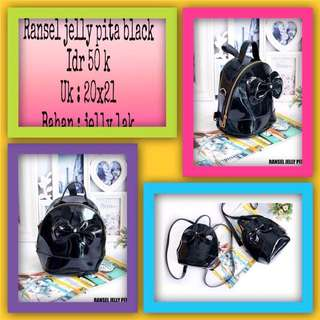 Ransel jelly pita black