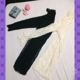 Lace Cover up Black and White