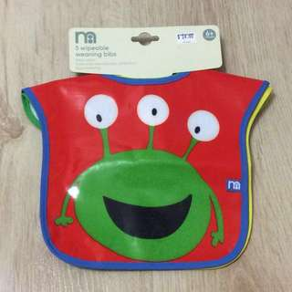 Mothercare wipeable weaning bibs 3pc + 1 FREE!