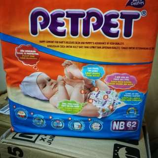 Pampers - 2 packs of PETPET NB62