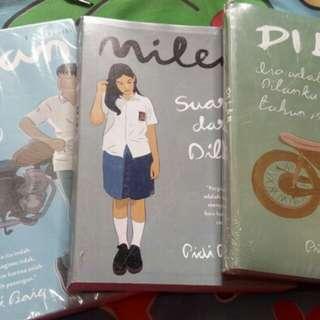 Novel Dilan 1, Dilan 2, Milea