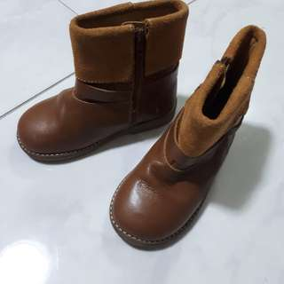 Zara Baby High-cut Leather Boots