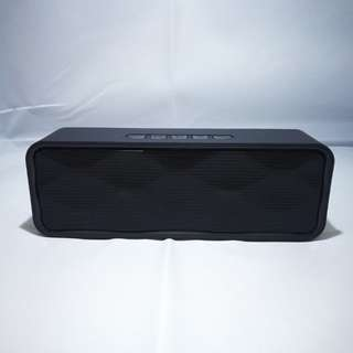 [In Stock] Wireless Matt Black Bluetooth Speaker #Huat50sales