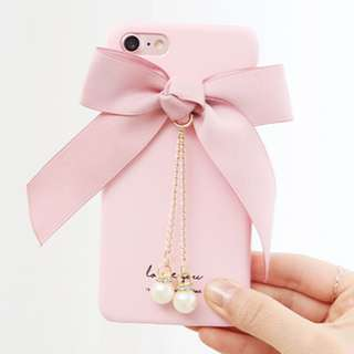 Romantic trycozy ribbon hard case Iphone Galaxy LG (Pink)