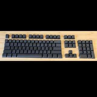 112 Black Blank PBT Keycap Set