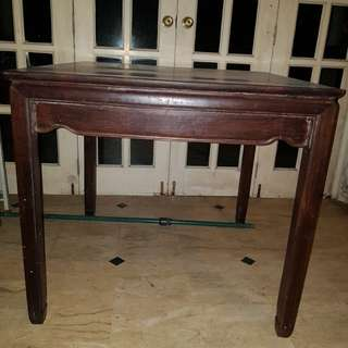 Antique Black Wood Table