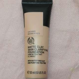 Matte Clay Skin Clarifying Foundation Body Shop