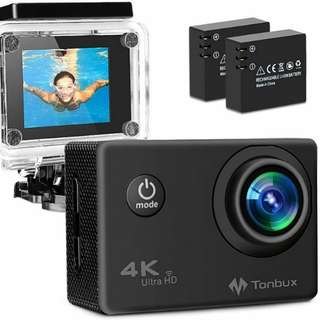 TONBUX Action Camera 17MP 1080P HD WiFi