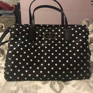 Kate spade nylon polka dot shoulder bag
