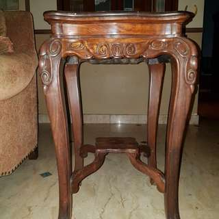 Antique Blackwood Shanghai Side Table