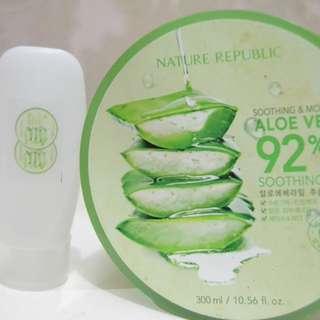 Share in bottle 30ml Nature Republic Aloe Vera 92% Shooting Gel