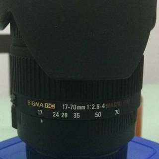 Sigma 17-70mm f2.8 Canon Mount
