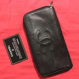 Authentic Chanel Zip Wallet Serial No. 7205037 #huat50sale