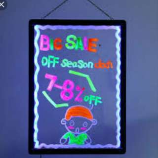 LED Board pricing or any battery operated