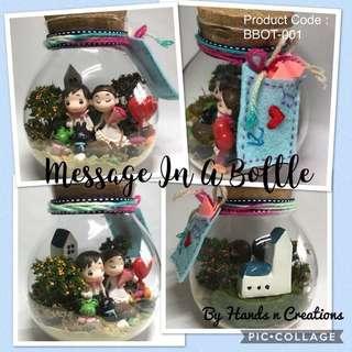 Couple Proposal Gift Message Terrarium