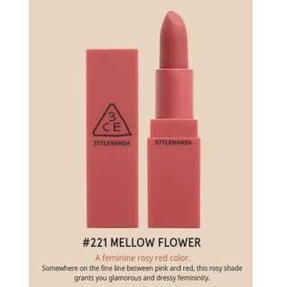 3CE Mood Recipe Matte Lip Color Season 2 (#221 MELLOW FLOWER)