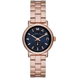 BN Marc By Marc Jacobs Women's MBM3332 Stainless Steel Baker Watch (Rose Gold Strap with Blue Dial)