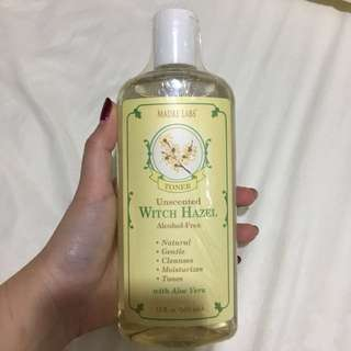 Unscented witch hazel alcohol free toner