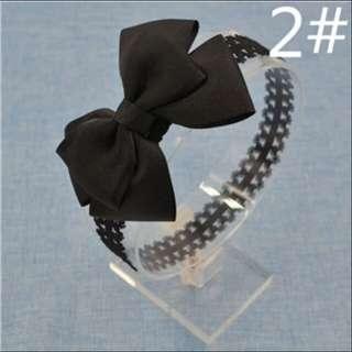 Bow Lace Headband (Black)