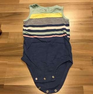 bn carter's baby romper sleeveless stripes 24 months
