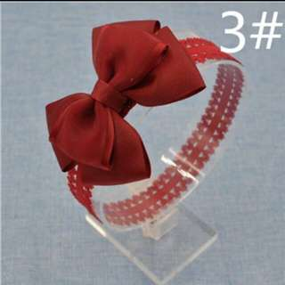 Bow Lace Headband (Red)