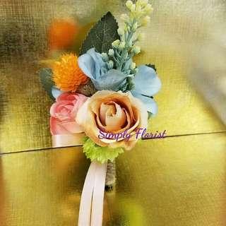 wedding silk corsage (light.color#3) - 結婚手花 胸花襟花