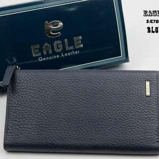 New...!!! 👏👏👏 #E7899 #Eagle Wallet  Bahan Kulit Asli   Uk:18x10cm  Warna: ~Blue.