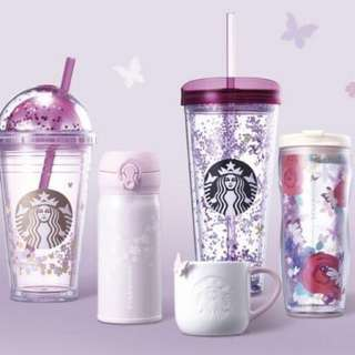 PREORDER ONLY >> New!!! Authentic only Starbucks korea 2018 butterfly spring collection