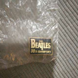 "Beatles 30th Anniversary pin, 1"" size, promo item"