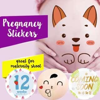 Maternity shoot / Pregnancy Bump Stickers