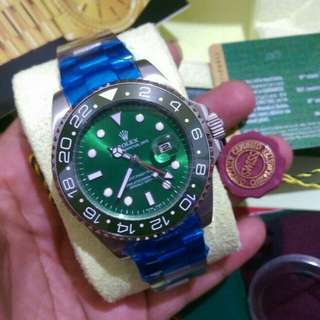 Jam Tangan Pria Rolex GMT Master II Automatic (SWISS ETA)