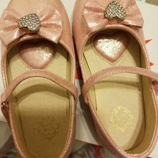 粉紅色閃粉平底鞋