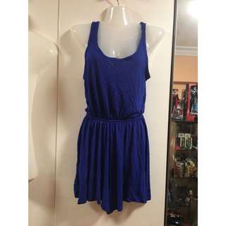Cotton on electric blue romper