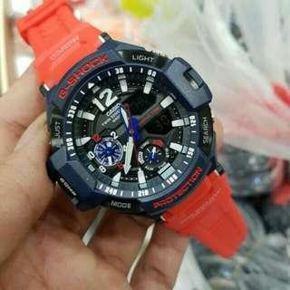 Jam Tangan Pria Casio G-Shock Ga-1100 Red Blue Original