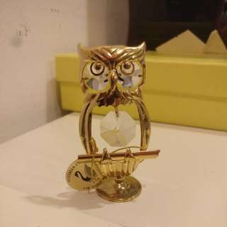 Gold plated owl figurine