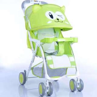 Yellow Green Baby Stroller with Canopy