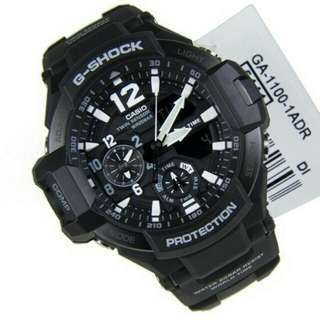 Jam Tangan Pria Casio G-Shock Ga-1100 Full Black Original
